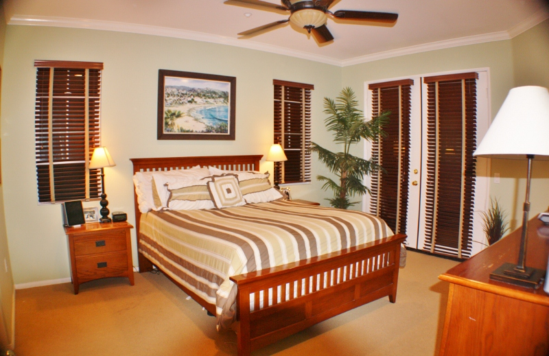 Large master bedroom with french doors