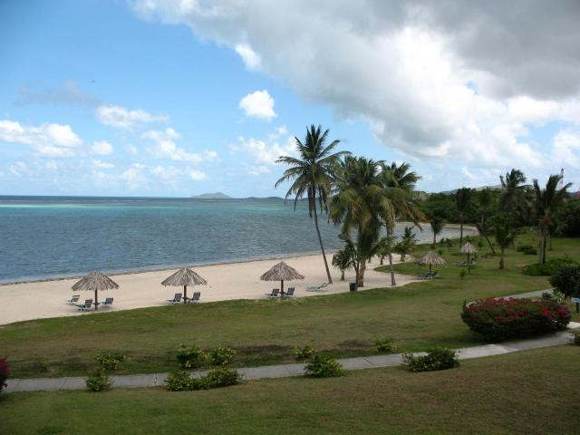 View of Beach & Turquoise Caribbean from Unit 204 Gallery