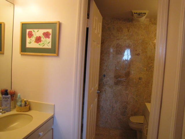 Unit features separate vanity / dressing area
