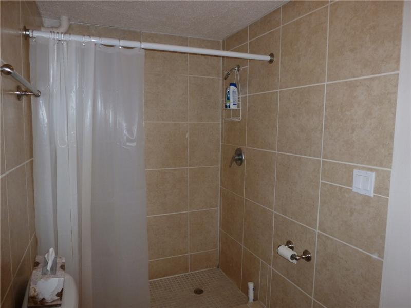 Roomy Walk-in Shower