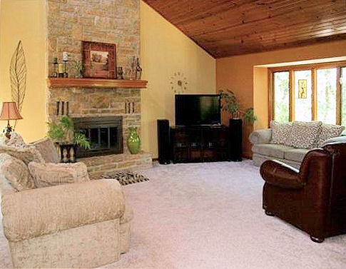 Great Room w/Stone Fireplace