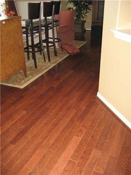 Beautiful Hardwoods and 20 inch tile
