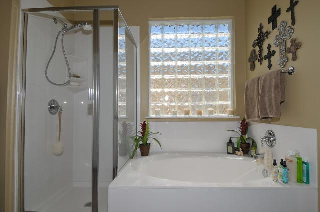 Separate shower and tub in Master Bath