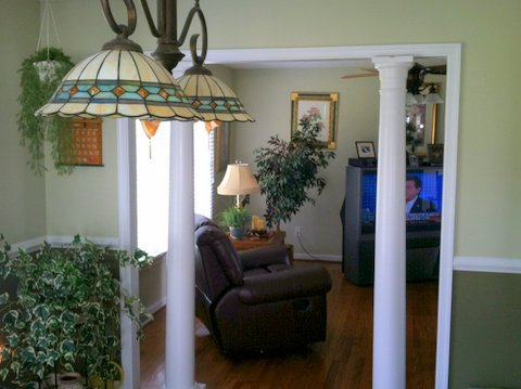 Columns Leading to Great Room