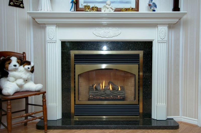 and corner Gas Fireplace
