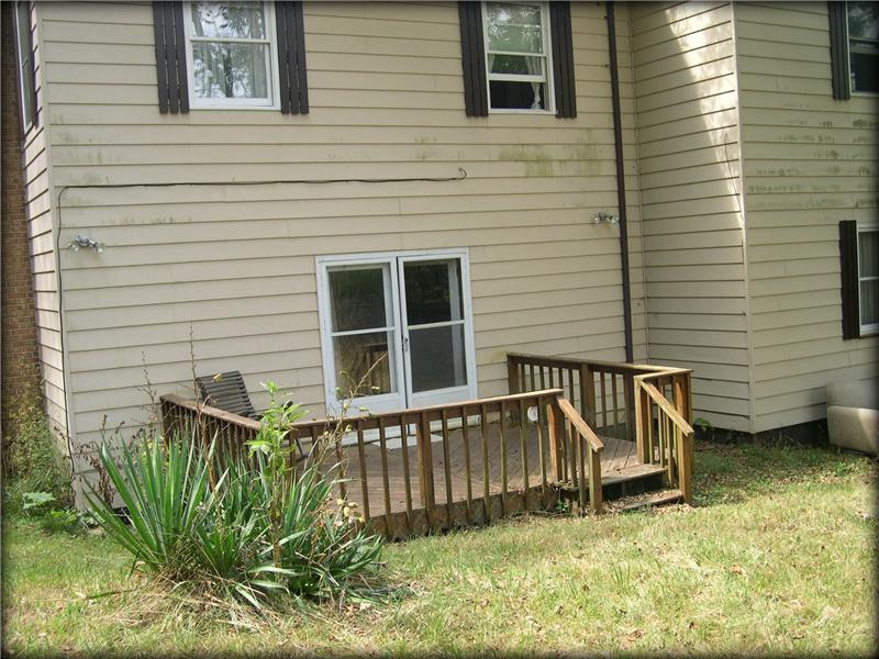 Back deck; partly fenced