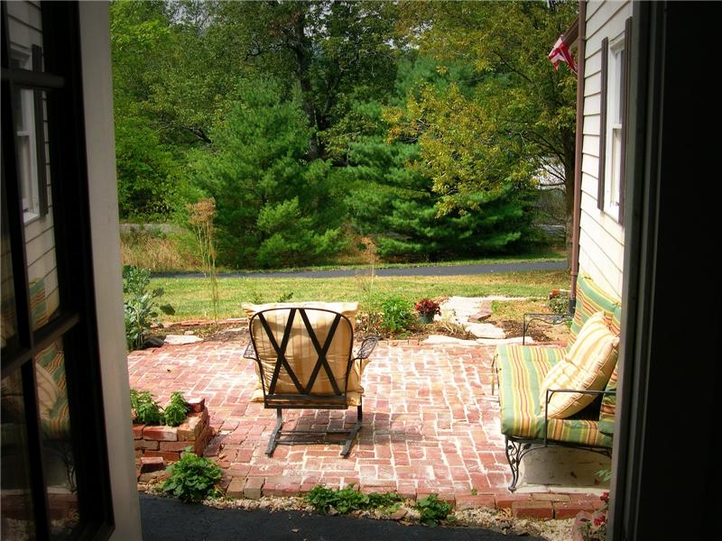 brick patio off kitchen