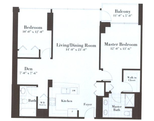 Split Bedroom Floorplan