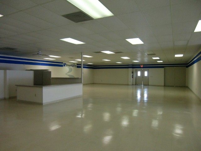 Open area to right of customer center