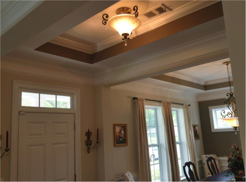 Tray ceiling & natural light in foyer
