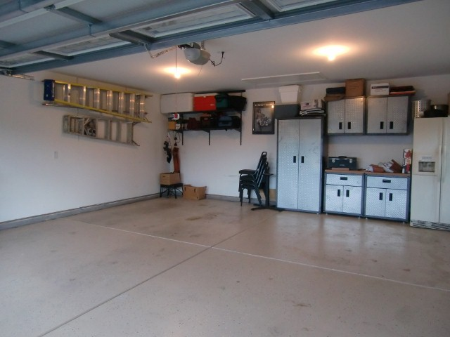 Coated floor in garage