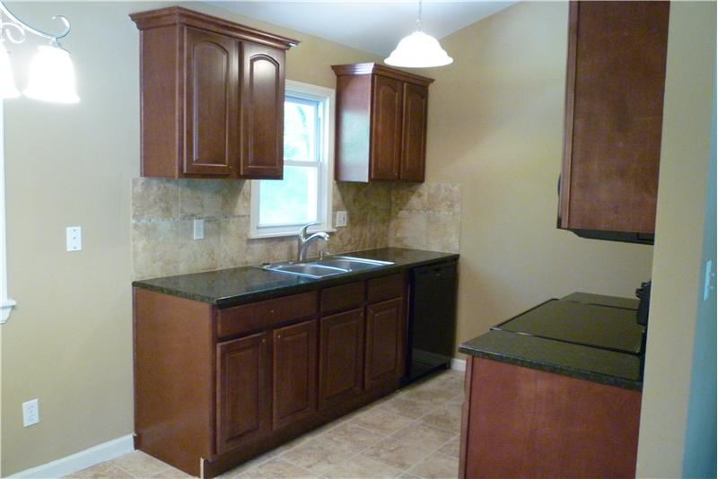 Kitchen with New Granite Counter Tops