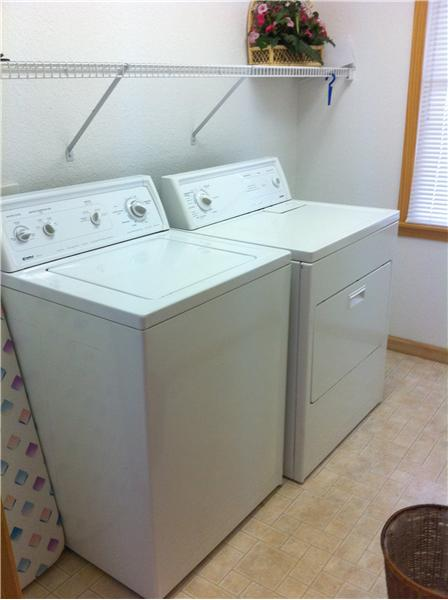 Large, Convenient Laundry Room on Mid-Level