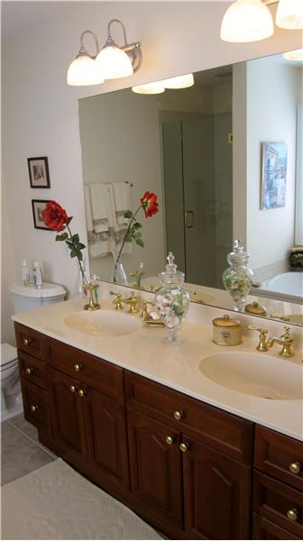 Master bathroom vanity