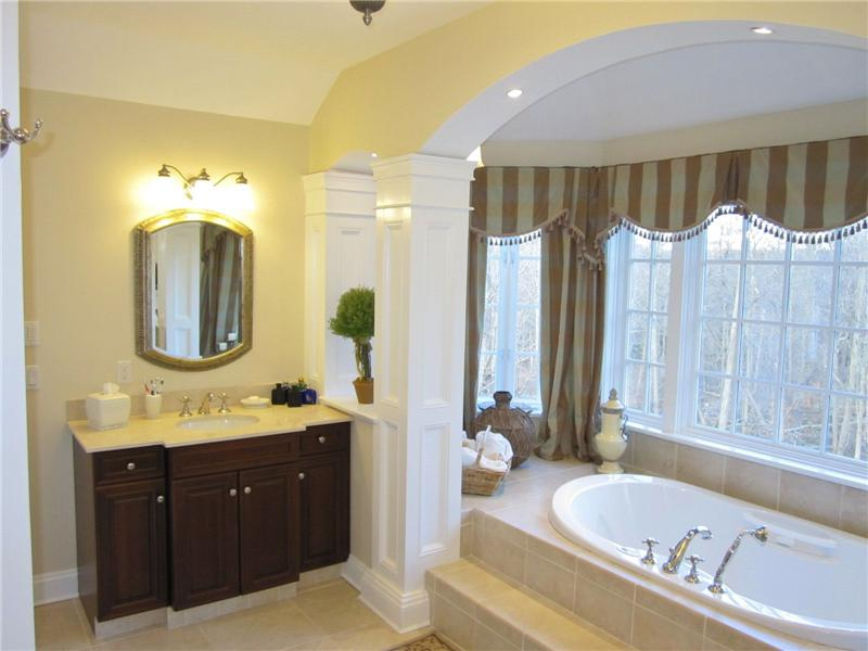 Master bathroom with his/her seperate vanities and sinks
