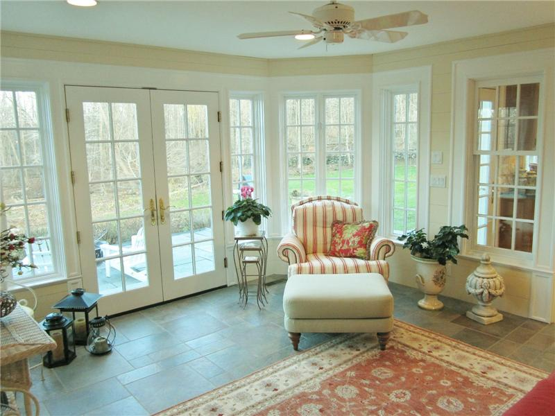 Sunroom with patio access