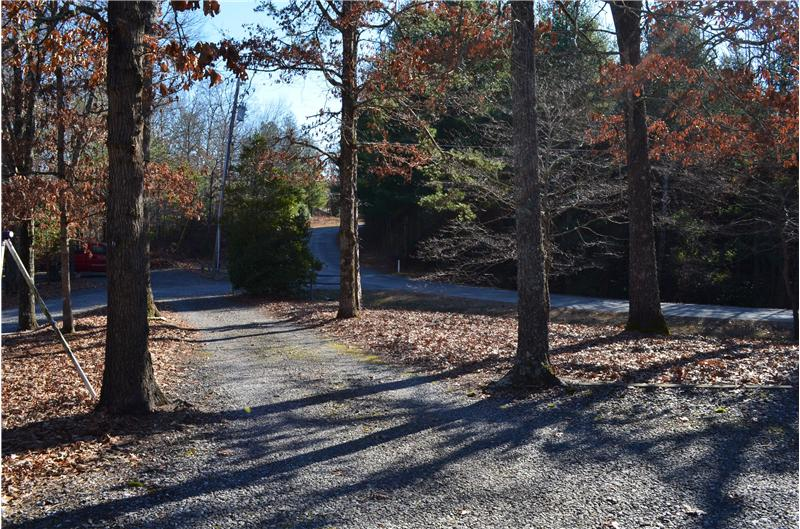 Paved Road Access to Gravel Driveway